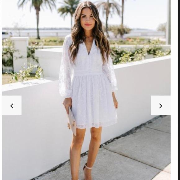 Best Behavior Button Down embroidered Dress